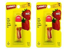 Carmex - Strawberry Moisturising Lip Balm Tube - SPF15 - 10g (TWIN PACK)