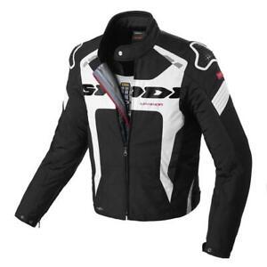Spidi Warrior H2out Evo Motorcycle Motorbike Sports Jacket Black/White