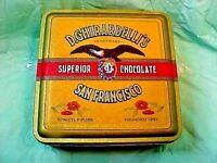 VINTAGE GHIRARDELLIS TIN CHOCOLATE SAN FRANCISCO 1993 REPRODUCTION TIN BOX EMPTY