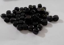 300pcs 10mm Wooden CUBE Squared Beads - Jet Black A21