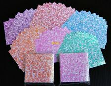 "140 sheets Origami Paper Folding DIY. Kit Lucky Crane Bird Shiny Rose 1.5""x1.5"""