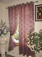 "Fiona 60"" X 90"" Jacquard Window Curtain with Grommets by Venice Collections"
