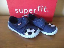Garçons Superfit 273 Noir Football Toile Crochet/Boucle non-marquage shoe UK 7.5 Eur 25