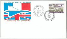 64849  - FRANCE - POSTAL HISTORY - SPECIAL CARD: CONCORD Aviation  1975