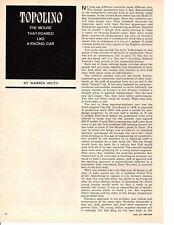 THE FIAT TOPOLINO  ~ ORIGINAL 4-PAGE 1964 ARTICLE / AD