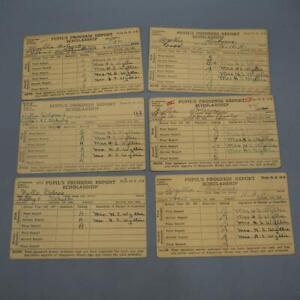Vintage Lot of 6 Elementary School Report Card Pittsburgh Pennsylvania 1939 1940