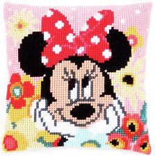 Minnie Mouse Sogni a occhi aperti trama grossa Cross Stitch Cuscino ANTERIORE KIT 40x40cm Vervaco