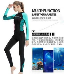 New Ultra-thin 1mm Women Full Length Quick dry Swim Surf Scuba Diving Wetsuit