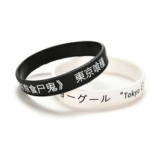 Anime Tokyo Ghouls Silicon Wristband Black  Fan Made Bracelet AB  T lG