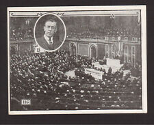 Declaration of War WW1 Woodrow Wilson - 1926 News Card #116 Nobel Prize Winner