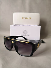 Versace Sunglasses Black-Golden Men Sunglasses 57mm