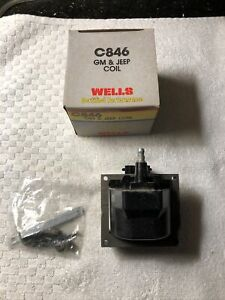 New Wells C846 Ignition Coil 1985-88 Chevrolet GM 85-87 Jeep 1115315/8983501871