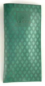 Vintage Gucci Monogram Sunglasses Sleeve Pouch Case Only Green Rubber Rare 70's
