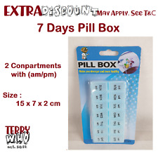 Au Pill Box 7 Day Medicine Tablet Dispenser Organizer Weekly AM PM Holiday Home