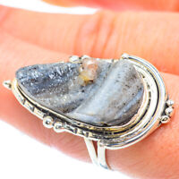 Large Desert Druzy 925 Sterling Silver Ring Size 8.75 Ana Co Jewelry R56177F