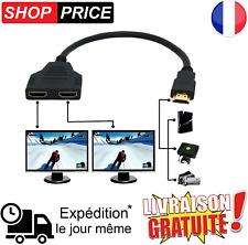 Adaptateur Prise HDMI Mâle vers Double HDMI Femelle Multiprise hdmi switch