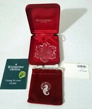 Genuine Waterford Crystal Snowflake Pendant W/ Box Product of Ireland
