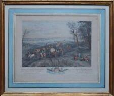 Estampes, gravures et lithographies du XIXe siècle et avant baroques en paysage