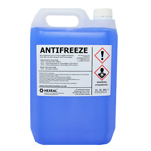 Hexeal BLUE ANTIFREEZE & COOLANT | 5L | -37 ºC | High Concentrate/Longlife