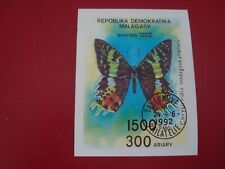 MADAGASCAR - 1992 BUTTERFLY - MINISHEET - UNMOUNTED USED MINIATURE SHEET