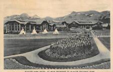 GLACIER PARK HOTEL Glacier National Park Main Entrance Montana Postcard ca 1920s