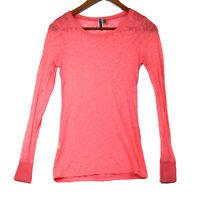 BKE Buckle Women's Pink Sheer Long Sleeve Top - Size Small