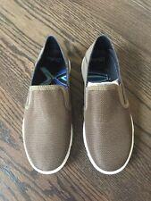 Olukai Kahu Maka Boys Brown Tan Mesh Comfort Slip On Shoes Size Eur 33 Sample