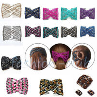 Double Hair Comb Magic Beads Elasticity Clip Stretchy Hair Grip Combs Hairpin