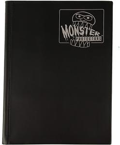 Monster Binder - 9 Pocket Trading Card Album - Matte Black - Holds 360 Yugioh,