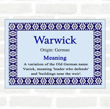 Warwick Name Meaning Blue Certificate
