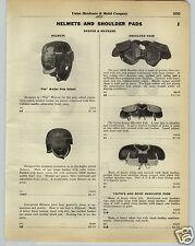 1930 PAPER AD D&M Draper & Maynard Leather Football Helmet Pop Warner Pads Pants