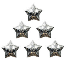 """CONCHO TACK 6 PCS WINDROSE STAR RANGER RODEO SILVER LEATHER SADDLE 1 """" NEW"""