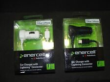 Enercell Lightning Car Charger Brand New Black or White 1 Charger per Order