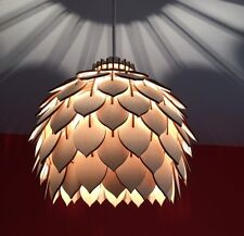 Laser Cut Wooden Ceiling Light Shade. Fully Assembled!
