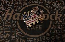 Hard Rock Cafe HRC NATIONAL PARK BEAR Lapel Pin National Park Foundation US Flag