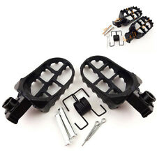 Black Race Wide Fat Foot Pegs 8mm Bolt Fit For Honda CR CRF XR Kawasaki KLX110