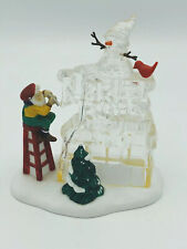 Department 56 Accessory A Busy Elf 56366 Christmas Winter Ice Carving Sculpture