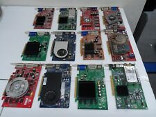 LOT 12x graphic card ( ATI, NVIDIA and.....) FOR PART * AS IS *