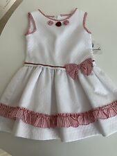 Espagnol bébé fille 2 pièces rose et blanc Jam Pantalon et à Volants Col Haut Set