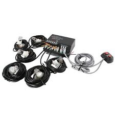120W 6 HID Bulbs Hide A Way Emergency Hazard Warning Strobe Light System Kit