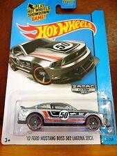 Hot Wheels 2014 Zamac 018 '12 Ford Mustang Boss 302 Laguna Seca 91/250 (A+/A-)