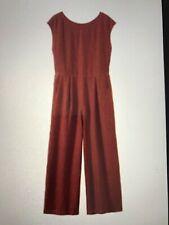 Toast Ladies Jumpsuit 100% Linen - Size S - Terracotta / Brick Red