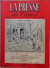 La Presse de France n°6- 1945 : L'agonie de la phalange Espagnole