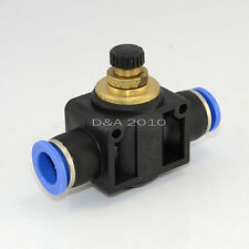 Hot Sale 1pcs Push in to connect inline Air Fitting Flow Speed Control OD 12MM