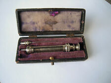 Antique Medical glass Syringe Box -small size
