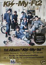 "KIS-MY-FT2 ""KIS-MY-1ST"" ASIAN PROMO POSTER - Japanese Boy Band, Pop Music"