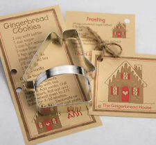 Ann Clark Tin Gingerbread House Cookie Cutter w/ Cookie & Frosting Recipe USA