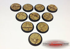 30mm Round Lipped Paved Dungeon Scenic Resin Bases Warmachine Hordes Malifaux DS