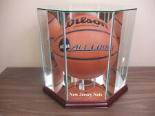 New Jersey Nets New Glass F/S Basketball Display Case NCAA NBA UV