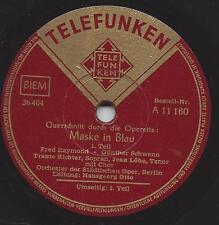 Maske in Blau Operette  : Traute Richter  und Jean Löhe , Hansgeorg Otto